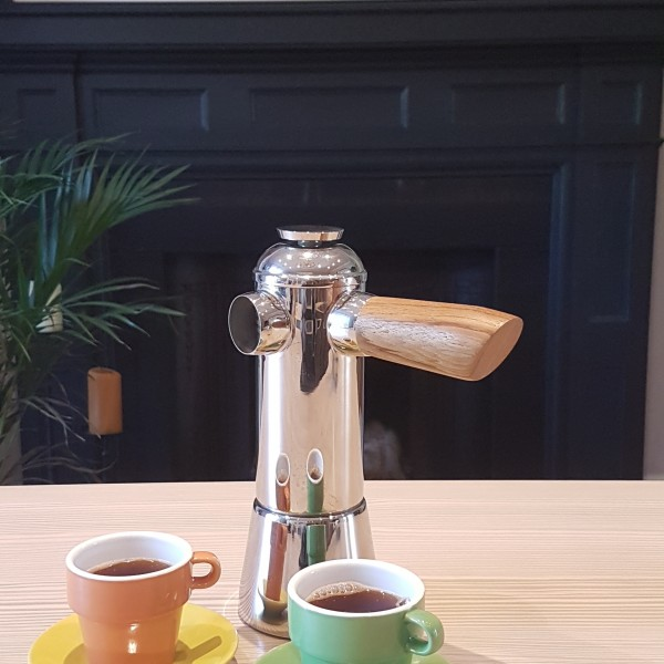 Freud Moka Stovetop Espresso Maker - Oak by Megan
